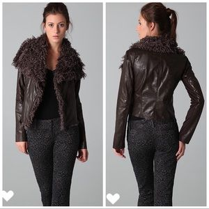 Georgie Faux Leather/Faux Fur Mayra Jacket